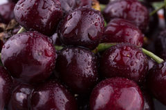 Juicy cherry fruit. On the entire frame can be used as background Royalty Free Stock Images