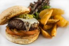 Juicy chicken burger Stock Photo