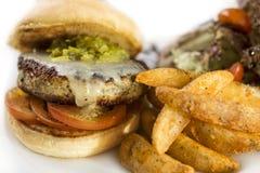 Juicy chicken burger Royalty Free Stock Image