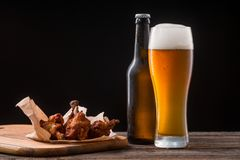 Juicy Chicken Wings For Beer Stock Photo