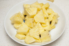 Juicy chunks of pineapple Royalty Free Stock Image