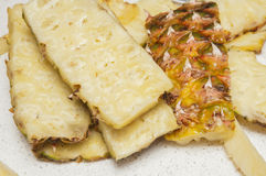 Juicy chunks of pineapple Stock Photos