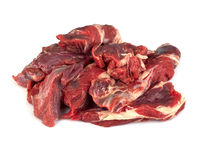 Juicy chunks of raw beef Stock Photo