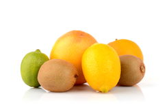 Juicy citrus fruits Stock Photos