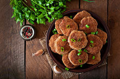 Juicy delicious meat cutlets Royalty Free Stock Photos