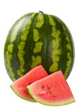 Juicy delicious sweet watermelon on white Royalty Free Stock Photography