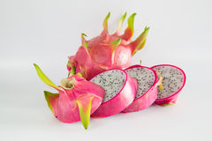 Juicy Dragon Fruit on white background Royalty Free Stock Image