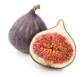 Juicy figs with leaf Stock Images
