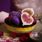 Juicy figs on the table Stock Photo