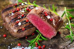 Juicy Fillet Steak with Fresh Herbs Stock Images