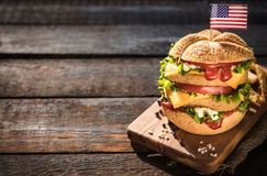 Juicy fish burger Stock Photography