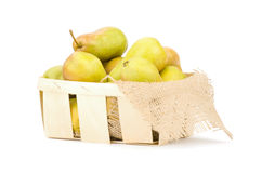 Juicy flavorful pears in box Royalty Free Stock Photo