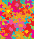 Juicy flowers. Grafic design with strong juicy colors. Vector, grafic design Stock Photo