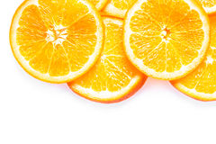 Juicy fresh colorful orange slices Stock Photo