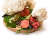Juicy and fresh cut vegetables. Royalty Free Stock Photos