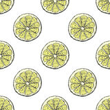 Juicy and fresh lemon pattern Royalty Free Stock Photo