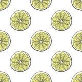 Juicy and fresh lemon pattern. Juicy and fresh lemon seamless pattern stock illustration