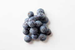 Juicy fresh ripe blueberries on white Royalty Free Stock Images