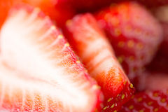 Juicy fresh ripe red strawberry slices Royalty Free Stock Images
