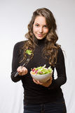 Juicy fresh salad. Royalty Free Stock Photo
