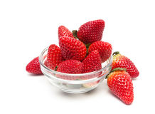 Juicy fresh strawberries  on white background Stock Photography