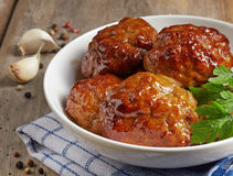 Juicy fried meat cutlets Royalty Free Stock Photos