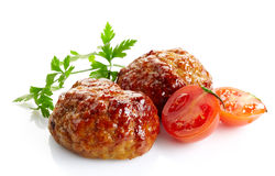Juicy fried meat cutlets Royalty Free Stock Photo