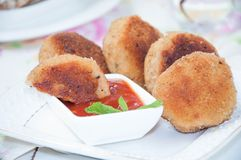 Juicy fried meat cutlets Stock Photography