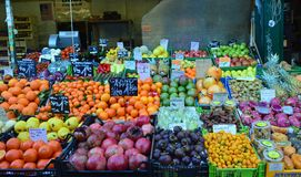 Juicy fruits for sale Naschmarkt Vienna Royalty Free Stock Image