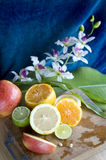 Juicy fruits on background Royalty Free Stock Photo