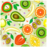 Juicy fruits Seamless Pattern. Vector. Royalty Free Stock Photography