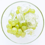 Juicy, full-bodied grapes in a wine glass Stock Photography