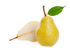 Juicy golden pear Stock Photos