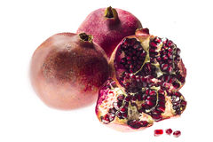 Juicy grain grenade and pomegranate Royalty Free Stock Photos