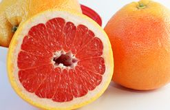 Juicy grapefruit Stock Images