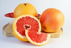 Juicy grapefruit, cut in half Royalty Free Stock Images