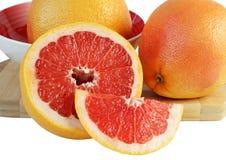 Juicy grapefruit, cut in half Stock Photos