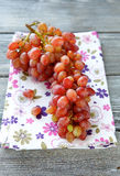 Juicy grapes on the napkin. Top view Stock Photography
