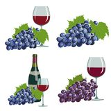 Grapes and red wine Royalty Free Stock Images