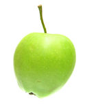 Juicy green apple Stock Photos