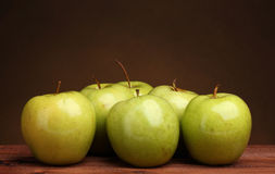 Juicy green apples Royalty Free Stock Photography