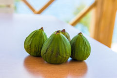 Juicy green figs Royalty Free Stock Image