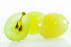 Juicy green grapes Stock Image