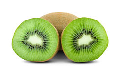 Juicy green kiwi. On white Royalty Free Stock Images