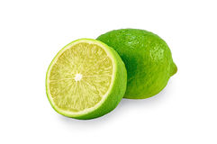 Juicy green lime and a half Stock Images