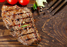 Juicy grilled beef steak Stock Photos