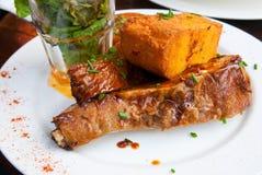 Juicy grilled pork leg Royalty Free Stock Photo