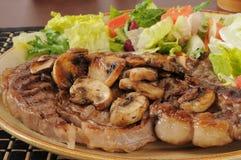 Juicy grilled rib steak Stock Image