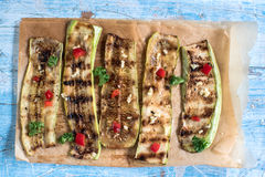 Juicy grilled zucchini Royalty Free Stock Photography