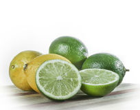 Still life of limes and lemons Royalty Free Stock Photos